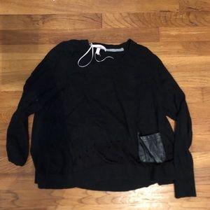 Victoria secret sweater w mesh bottom